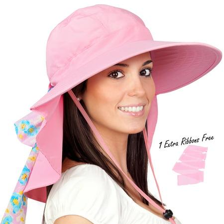 Solaris - Womens Sun Hats Neck Flap Large Brim UV Protection Foldable  Fishing Hiking Cap - Walmart.com 8d6df025eeb