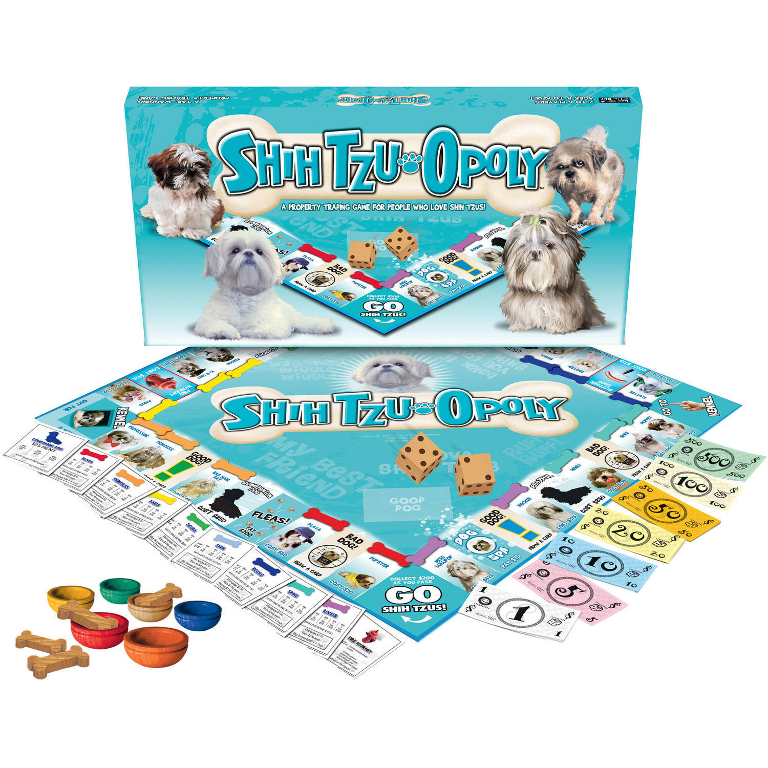Late for the Sky Shih Tzu-opoly Game