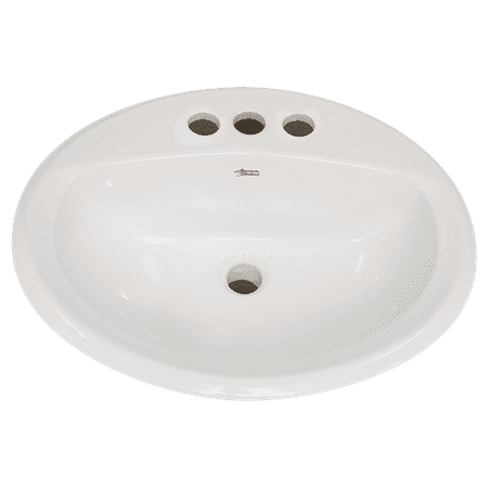 American Standard Aqualyn Countertop Sink with 4 in Faucet Holes White