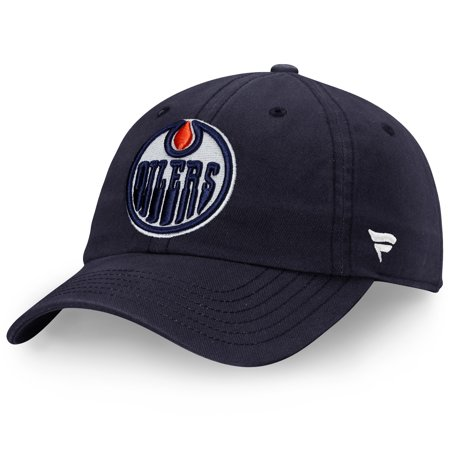 Edmonton Oilers Fanatics Branded Youth Core Fundamental Adjustable Hat - Navy - -