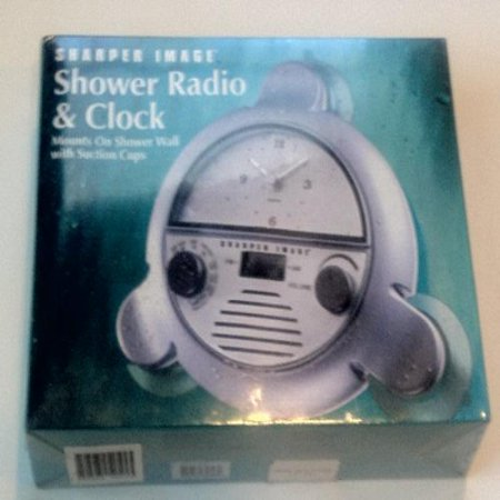Sharper Image Shower Radio Clock Walmartcom