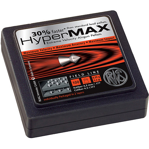 RWS Hyper Max Alloy .177 Pellets, 100 Count