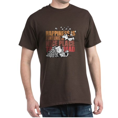 3ca62521 Cafepress - Peanuts Happiness Thanksgiving Dinner - 100% Cotton T-Shirt -  Walmart.com