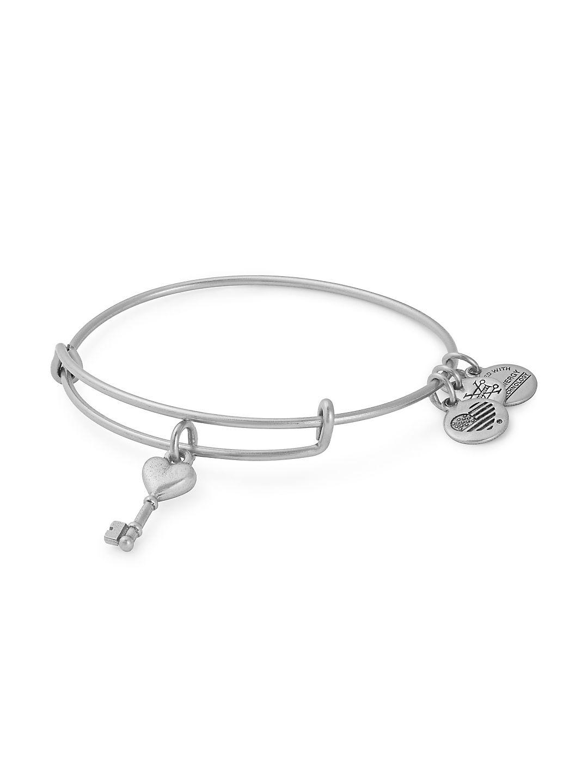 Valentine's Day Key to Love Charm Bangle Bracelet