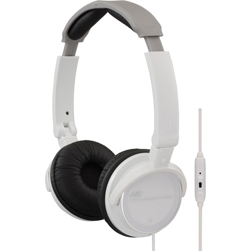JVC 3-Way Foldable On-Ear Headphones with Microphone Remote