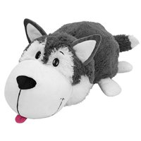 """FlipaZoo The 16"""" Pillow with 2 Sides of Fun for Everyone - Each Huggable FlipaZoo character is Two Wonderful Collectibles in One (Husky / Polar Bear)"""