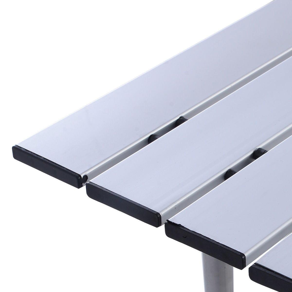 Portable Aluminum Roll Up Table Folding Camping Outdoor Picnic Table Garden  Yard (Small)   Walmart.com