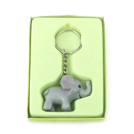 Safari Keychain Favors, 4-Inch, Baby Elephant, - Keychain Favors