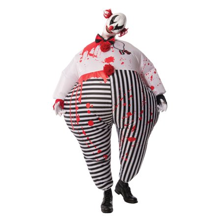 Adult Inflatable Evil Clown Costume by Rubies 810509