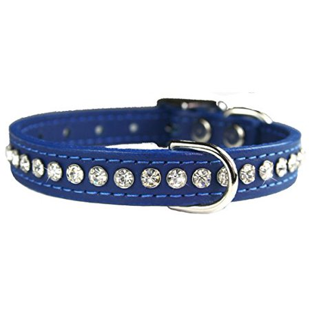 OmniPet Signature Leather Crystal and Leather Dog Collar, 16