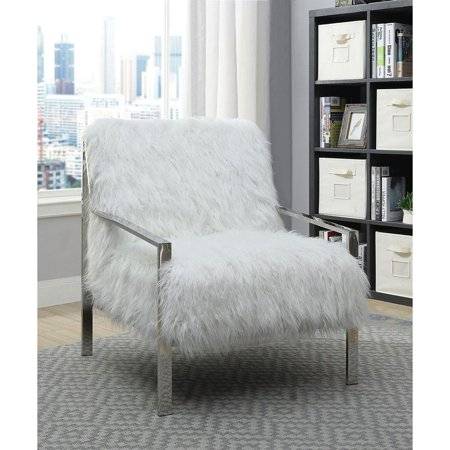 Awe Inspiring Fabric Upholstered Metal Frame Accent Chair In White And Silver Ibusinesslaw Wood Chair Design Ideas Ibusinesslaworg