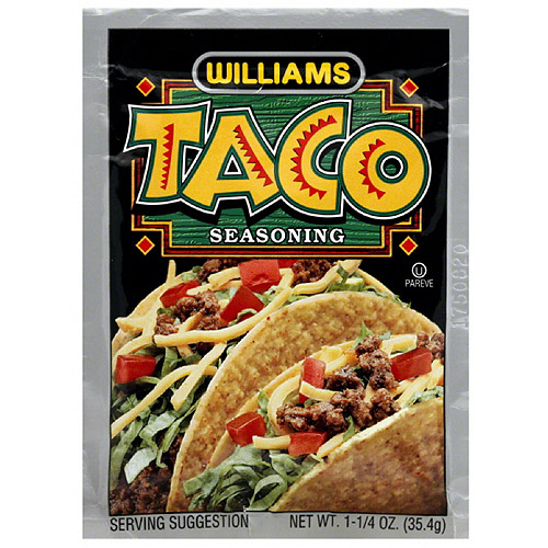 Williams Taco Seasoning, 1.25 oz, (Pack of 24)