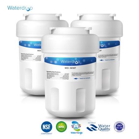 3 Pack Waterdrop Mwf Replacement For Ge Mwf Smartwater  Mwfa  Mwfp  Gwf  Gwfa  Kenmore 9991 46 9991  469991 Refrigerator Water Filter