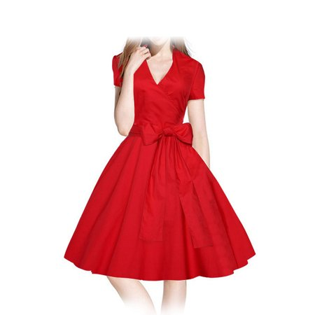 Spring Summer Easter Dress - Women Vintage Dress 1950s 1960S Swing Retro Casual Office Bridesmaid  Knee-length Fashion Chinese Style Dress for Xmas Evening Party Ball Spring Summer Autumn Winter US Size 2-6-8-10-12-14