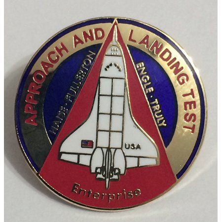 New Nasa Space Shuttle Program Approach and Landing Mission Lapel Pin Enterprise, By Winco Space Shuttle Mission Pin