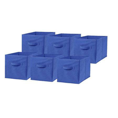Lv. life 6 Pcs Storage Box Household Organizer Fabric Cube Bin Basket Container Drawer