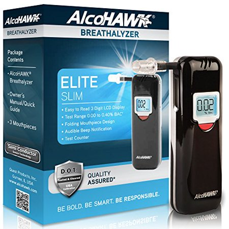 Alcohawk Slim Breathalyzer (AlcoHawk AlcoHAWK Elite Slim Digital Breathalyzer)