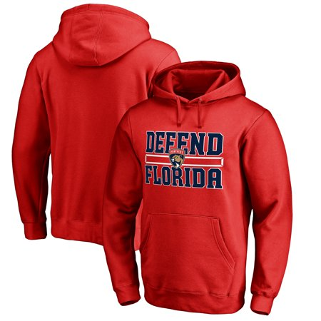 Florida Panthers Fanatics Branded Hometown Collection Defend Pullover Hoodie - Red