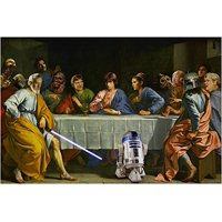 Star Wars Last Supper Art Poster Funny Iconic R2D2 Collectors Valuable 24X36