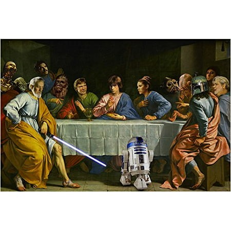 Star Wars Last Supper Art Poster Funny Iconic R2D2 Collectors Valuable (Last Supper Collector Plate)
