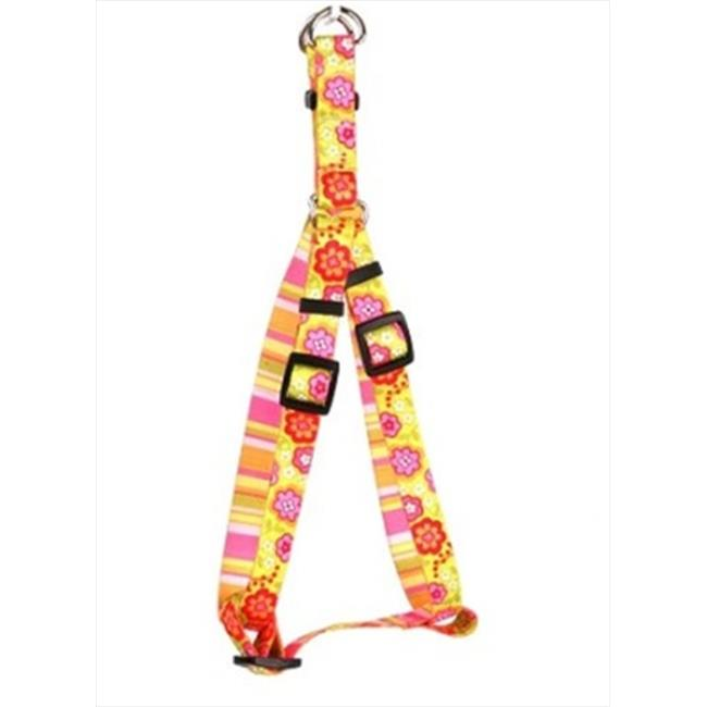 Yellow Dog Design Bouquet with Stripe Step-In Harness