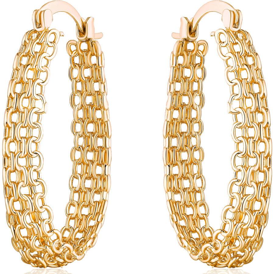 metal ring earrings. Leading the trend of retro fashion unique femininity