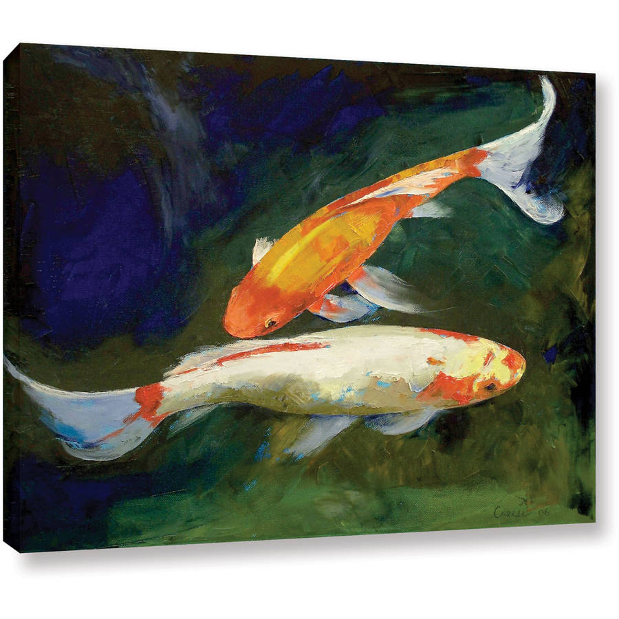 "Michael Creese ""Feng Shui Koi Fish"" Gallery-wrapped Canvas"