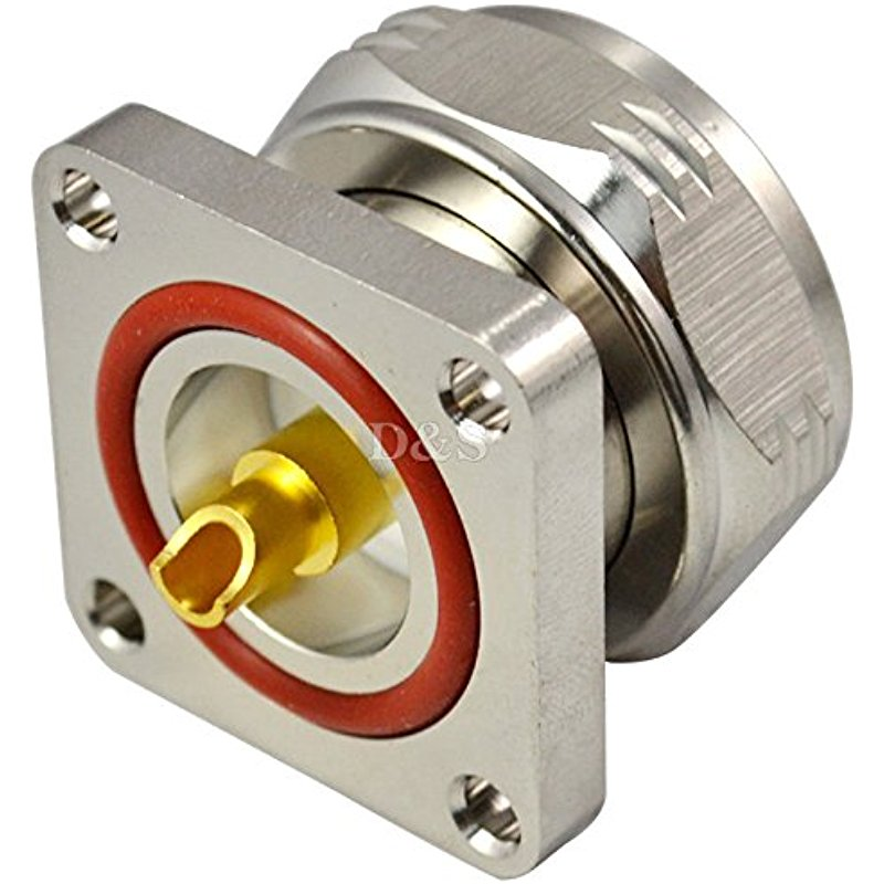 L29 Din 7/16 Male Plug 4 Holes Flange Panel Solder RF Coaxial Connector Adapter
