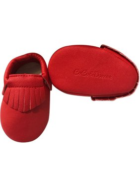 a1a685980568f6 Product Image Baby Girls Red Soft Sole Faux Leather Tassel Moccasin Crib Shoes  3-18M. Fancy Like Mommy