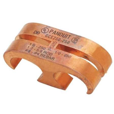 Copper Coated Ground Rod - PANDUIT GCE1/0-1/0 Ground Rod Connector, Copper