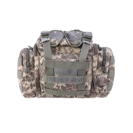 1pc Outdoor Large Capacity Fishing Gear Bag Multi-function Bait Fishing Tackle Box Waist Bag Satchel Fishing Bag (ACU Camouflage) thumbnail