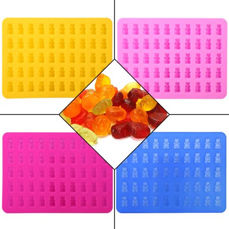 50 Cavity Silicone Bear & Chocolate Mold - Gummy Bear Maker,Healthy Sugar Free Gummy's & Candies at Home (Sugar Skull Molds)