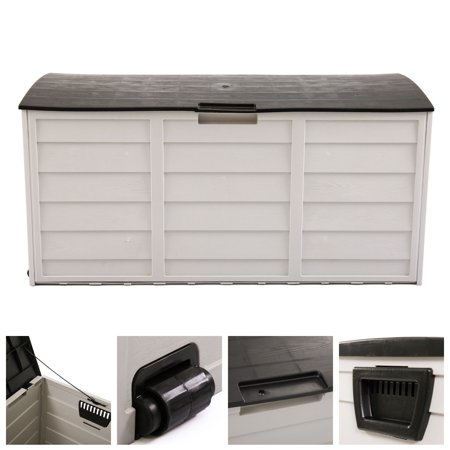 Backyard Patios Decks (Jaxpety Deck Storage Box Outdoor Patio Garage Shed Backyard Garden Tool Box Container )