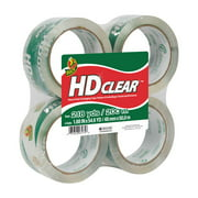 "Duck Brand Hd Clear-Packaging Tape, Clear, 1.88"" x 54.6 yds, 4-Pack"