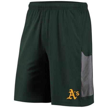 Oakland Athletics Shorts (Men's Majestic Green/Gray Oakland Athletics TX3 Cool Tech)