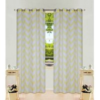 """1 Panel Chevron  Two-Tone Pattern Design Voile Sheer Window Curtain 8 Silver Grommets 55"""" Width X 63"""" 84 95, 108"""" length"""