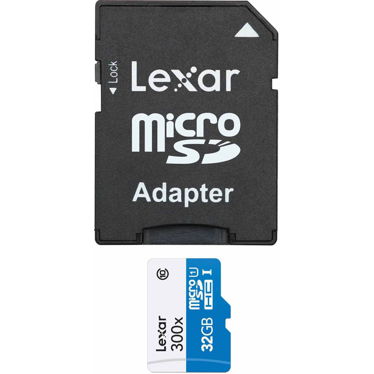 Lexar 32GB High-Performance microSDHC 300x Memory Card, 2-Pack