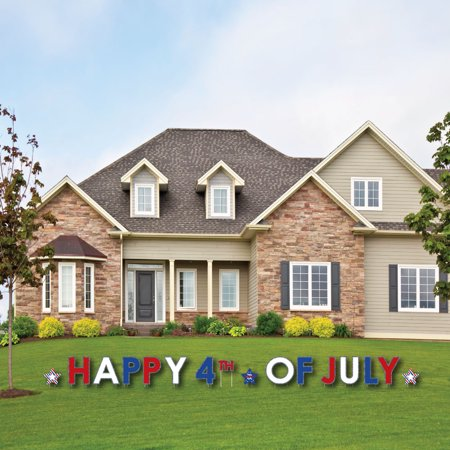 4th of July - Yard Sign Outdoor Lawn Decorations - Independence Day Party Yard Signs - Happy 4th Of July - Happy Halloween Yard Signs
