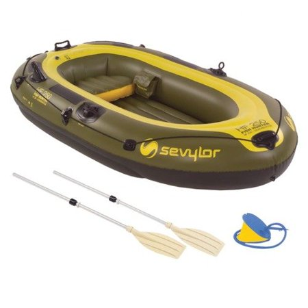 Sevylor 4 person fish hunter boat with pump and oar for 4 person fishing boat