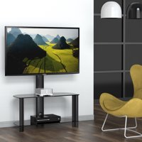 FITUEYES Swivel Tv Stand with Mount Entertainment Center for 32 42 up to 50 inch Samsung LG Vizio Flat Screen TV TW209002MB