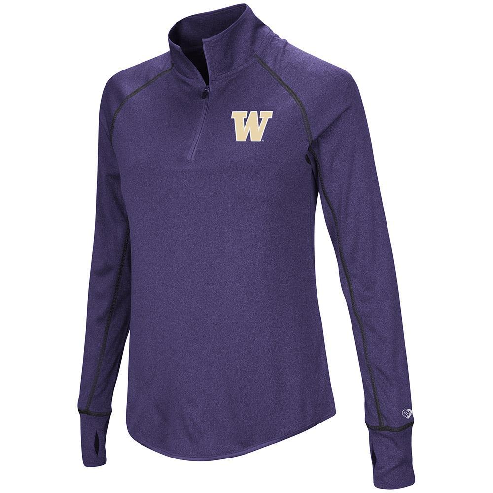 Womens Washington Huskies Quarter Zip Pull-over Wind Shirt - S