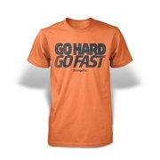 Stronger RX Orange Go Hard Go Fast Mens Tee Shirt, Extra Large