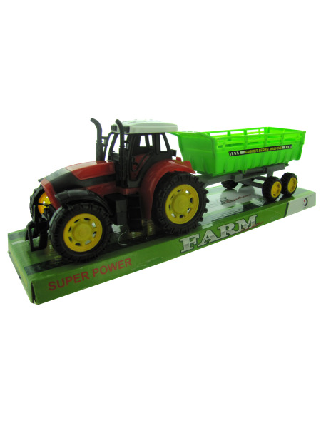 Friction Farm Tractor Truck & Trailer Set (Case of 12 ) by Generic