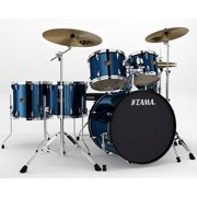 Tama Imperialstar 6-Piece Complete Drum Kit with Hardware and Cymbals, Midnight Blue