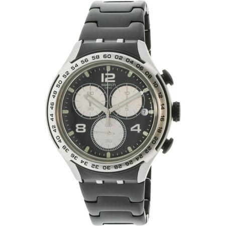 Swatch Men's Night Attack YYS4026AG Silver Aluminum Swiss Quartz Fashion Watch (Aluminum Quartz Watch)