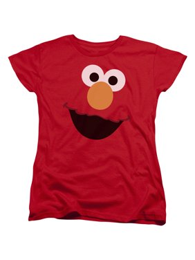 6acf0b30 Product Image Sesame Street Classic Children's TV Show Elmo Face Outline Women's  T-Shirt Tee