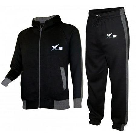 x-2 women athletic full zip fleece tracksuit jogging sweatsuit activewear hooded top red s