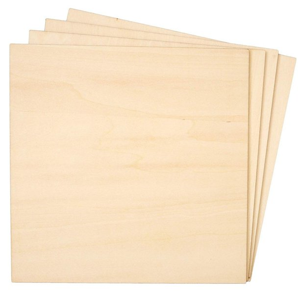 8 Pack Basswood Plywood Thin Sheets For Wood Burning Laser Cutting 1 4 X 8 Inches Walmart Com Walmart Com