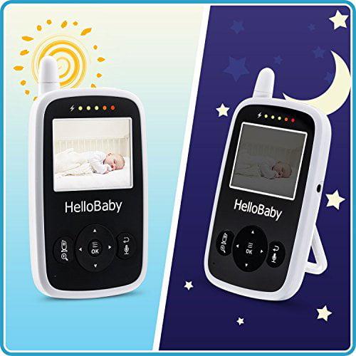 White Hello Baby Monitor HB24 2.4GHZ Digital Wireless Video Baby Monitor