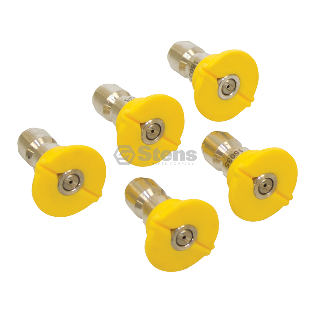 "Genuine Stens 1/4"" Quick Coupler Nozzle / 15 Degree, Size 3.5, Yellow Part# 758-928"
